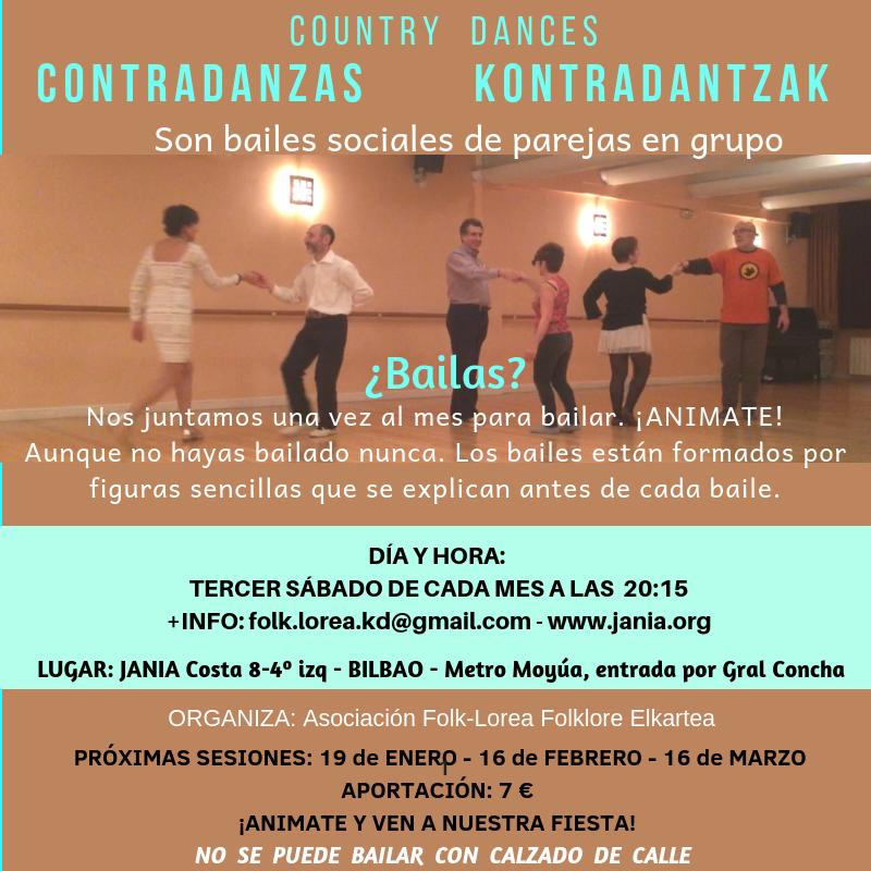 Contradanzas/Kontradantzak Sábado 16 de Marzo