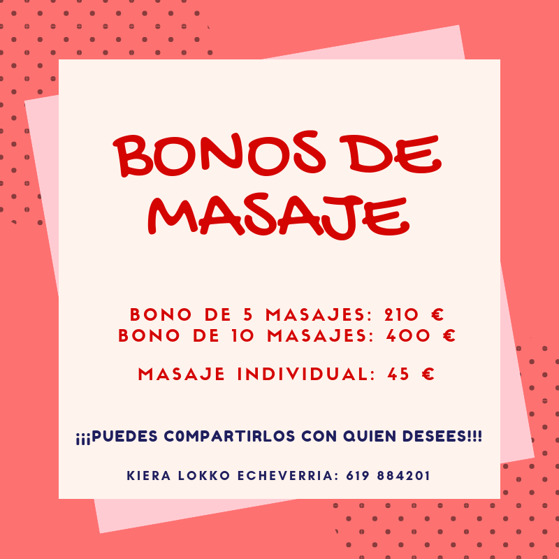 Bonos de 5 y 10 Masajes
