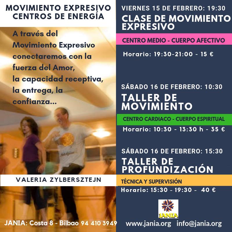 Clase y Taller de Movimiento Expresivo – 10 y 11 de Mayo