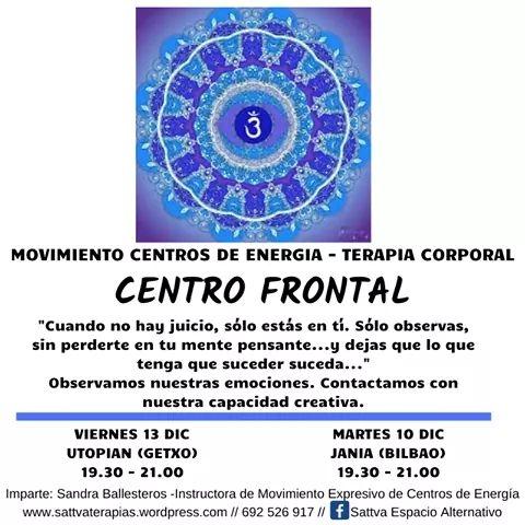 Movimiento de Centros de Energía: Centro FRONTAL Martes 10 de Diciembre