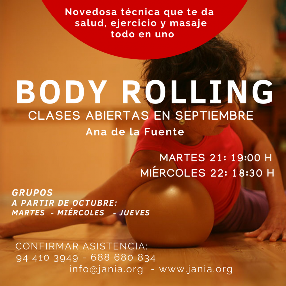Body Rolling – Septiembre Clases de Presentación
