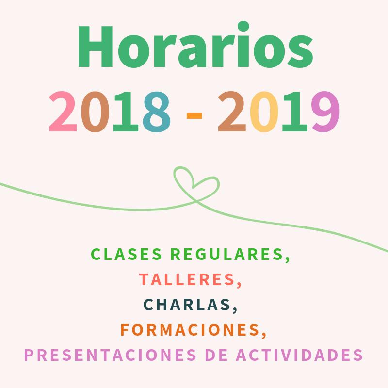 HORARIOS 2018-19