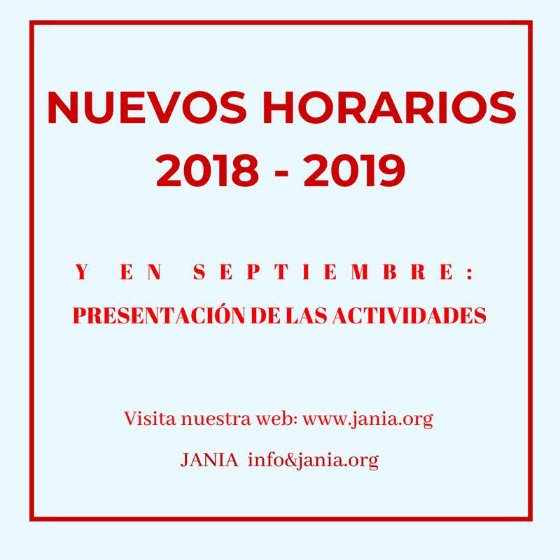 Nuevos HORARIOS 2018-19