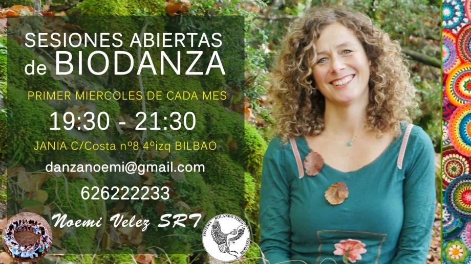 BIODANZA: Sesiones abiertas el primer miércoles de cada mes