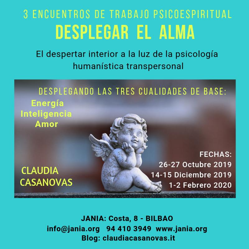 3 Encuentros de Trabajo Psicoespiritual con Claudia Casanovas