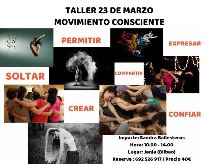 Taller de Movimiento Expresivo-Movimiento Consciente – Sábado 23 de Marzo