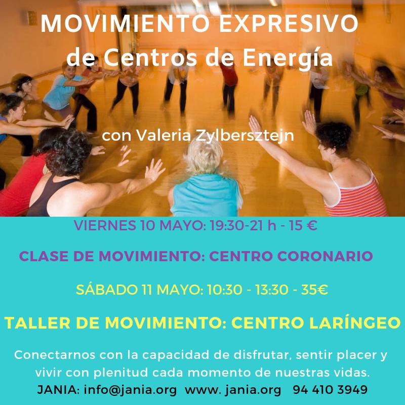 Clase y Taller de Movimiento Expresivo 10 y 11 de Mayo