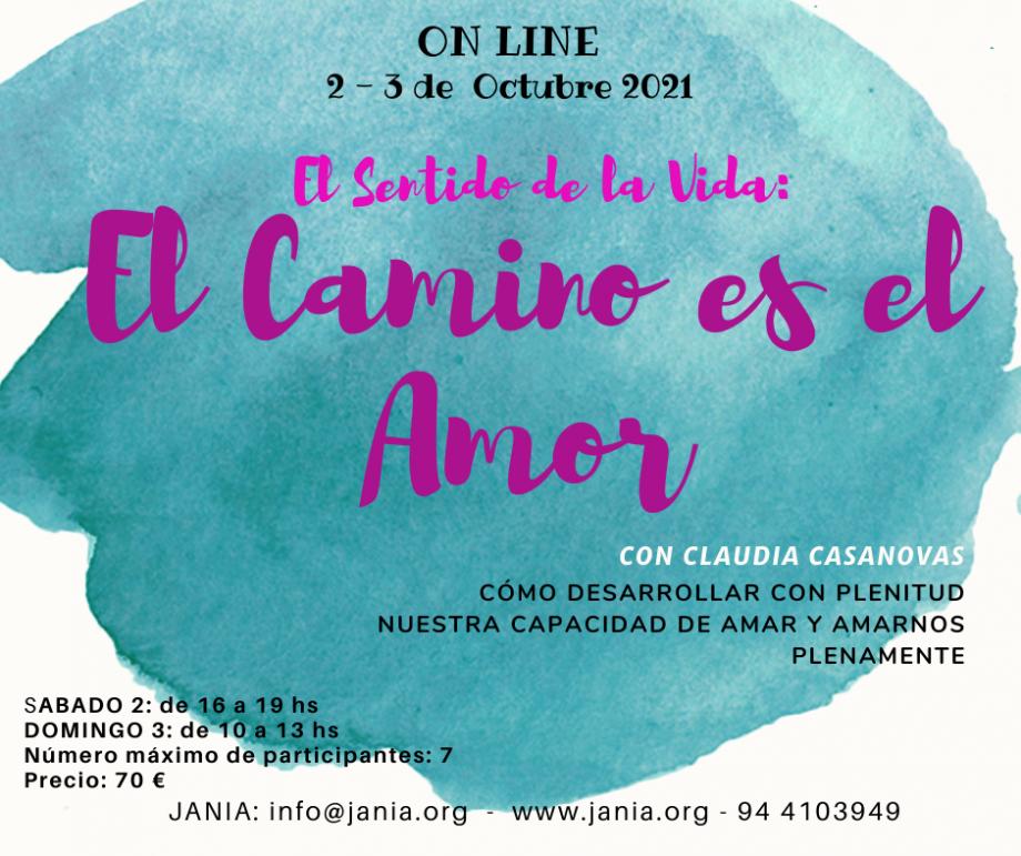 El Camino es el Amor – Taller on line con Claudia Casanovas
